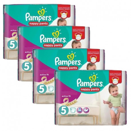 Giga Pack 160 Couches Pampers Active Fit Pants taille 5 sur 123 Couches