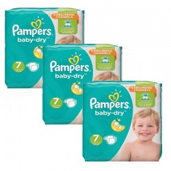 Mega Pack 120 Couches Pampers Baby Dry taille 7 sur 123 Couches