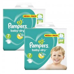 Mega Pack 116 Couches Pampers Baby Dry taille 7 sur 123 Couches