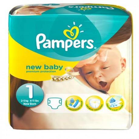 Pack 56 Couches Pampers de la gamme New Baby de taille 1 sur 123 Couches