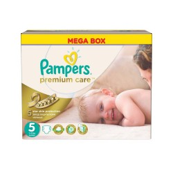 Maxi Pack de 240 Couches Pampers Premium Care taille 5 sur 123 Couches