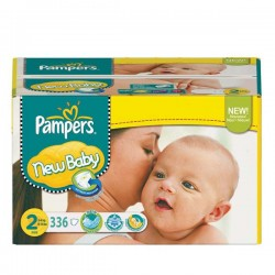 Maxi Pack 336 Couches Pampers New Baby de taille 2 sur 123 Couches