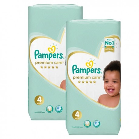 Maxi mega pack 408 Couches Pampers New Baby Premium Care taille 4 sur 123 Couches