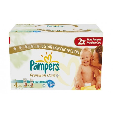 Maxi mega pack 476 Couches Pampers New Baby Premium Care taille 4 sur 123 Couches