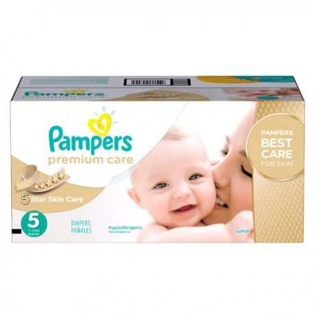 Maxi giga pack 360 Couches Pampers Premium Care taille 5 sur 123 Couches