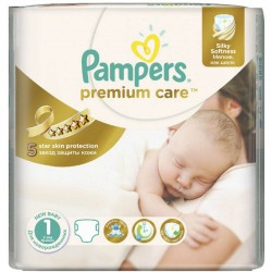 Pack 88 Couches Pampers Premium Care taille 1 sur 123 Couches