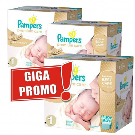 Giga pack 264 Couches Pampers Premium Care taille 1 sur 123 Couches