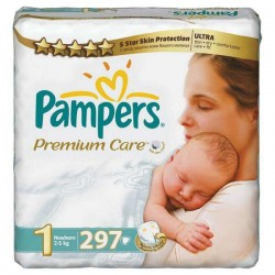 Maxi giga pack 352 Couches Pampers Premium Care taille 1 sur 123 Couches