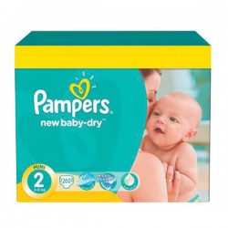 Pack de 260 Couches Pampers New Baby Dry de taille 2 sur 123 Couches