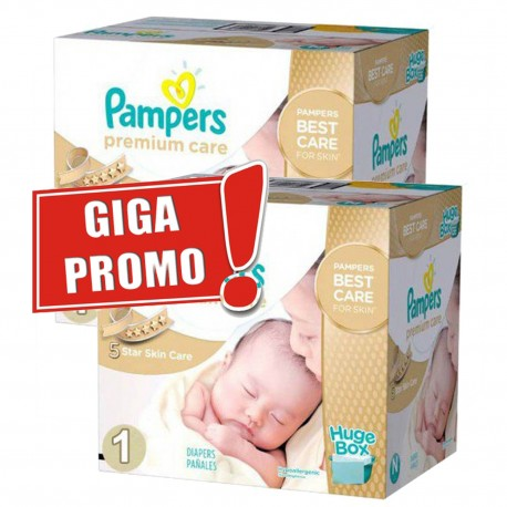 Maxi mega pack 440 Couches Pampers Premium Care taille 1 sur 123 Couches