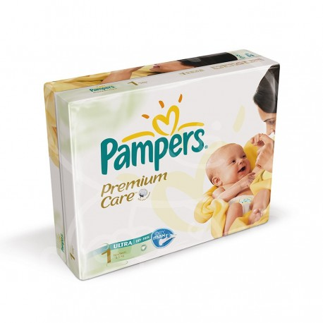 Pack jumeaux 528 Couches Pampers Premium Care taille 1 sur 123 Couches