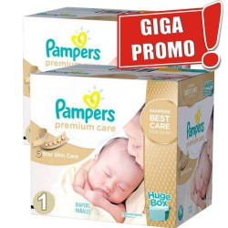 Pack jumeaux 880 Couches Pampers Premium Care taille 1 sur 123 Couches