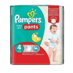 Pack 29 Couches Pampers Baby Dry Pants taille 4 sur 123 Couches