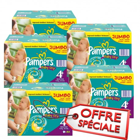 Mega pack 123 Couches Baby Dry taille 4+ sur 123 Couches