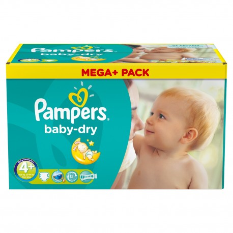 Mega pack 164 Couches Baby Dry taille 4+ sur 123 Couches