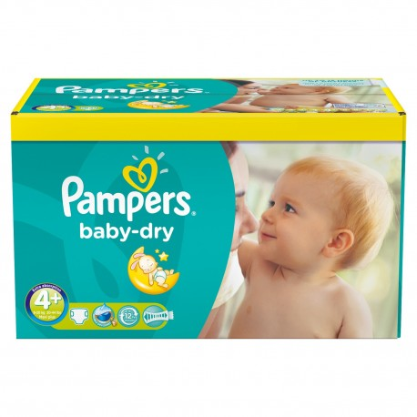 Maxi giga pack 369 Couches Pampers Baby Dry taille 4+ sur 123 Couches