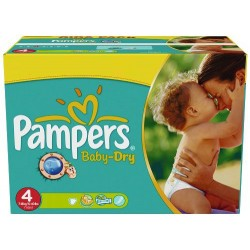 Mega pack 176 Couches Pampers Baby Dry taille 4