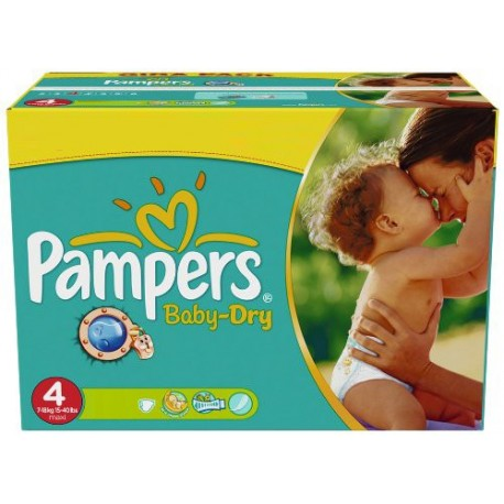 176 176 Couches Pampers Baby Dry taille 4 sur 123 Couches