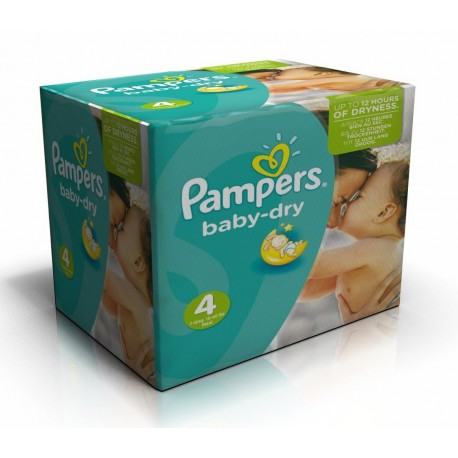Maxi giga pack 308 Couches Pampers Baby Dry taille 4 sur 123 Couches