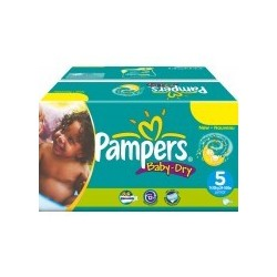 216 216 Couches Pampers Baby Dry taille 5 sur 123 Couches
