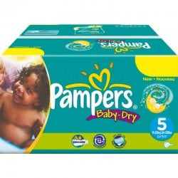 Maxi mega pack 432 Couches Pampers Baby Dry sur 123 Couches