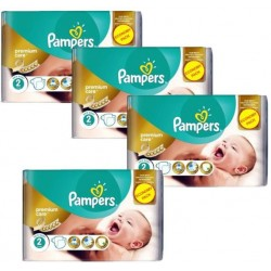 Pack 76 Couches Pampers New Baby Premium Care taille 2