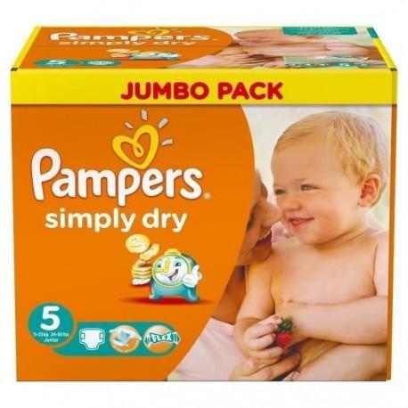 Pack 352 Couches de la marque Pampers Simply Dry de taille 5 sur 123 Couches
