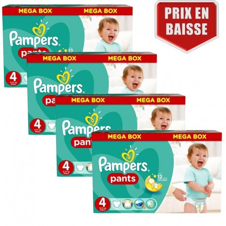 Pack jumeaux 551 Couches Pampers Baby Dry Pants taille 4 sur 123 Couches