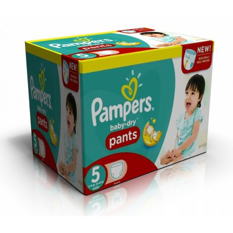 Mega pack 182 Couches Pampers Baby Dry Pants taille 5 sur 123 Couches