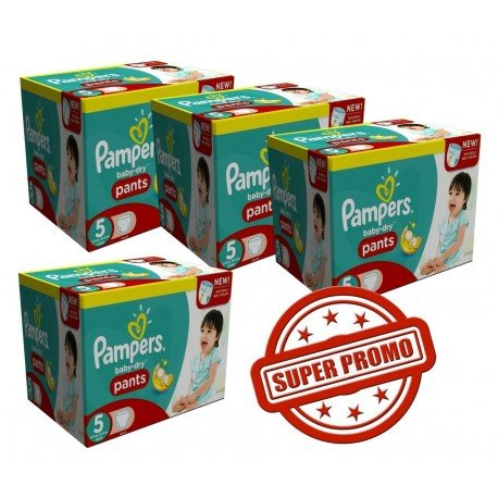Giga pack 260 Couches Pampers Baby Dry Pants taille 5 sur 123 Couches