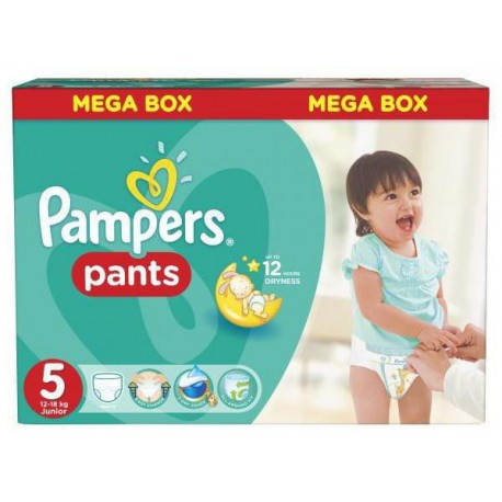 Maxi giga pack 312 Couches Pampers Baby Dry Pants taille 5 sur 123 Couches