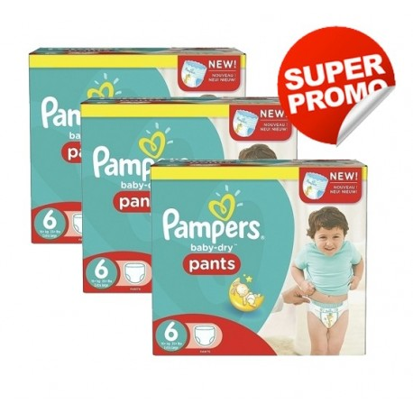 Pack 92 Couches Pampers Baby Dry Pants taille 6 sur 123 Couches