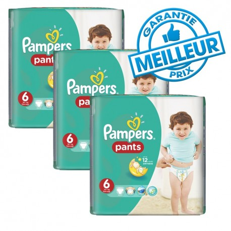 Giga pack 230 Couches Pampers Baby Dry Pants taille 6 sur 123 Couches