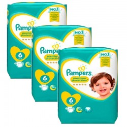 Pack jumeaux 532 Couches Pampers New Baby Premium Protection taille 6 sur 123 Couches
