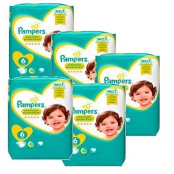 Pack jumeaux 684 Couches Pampers New Baby Premium Protection taille 6 sur 123 Couches