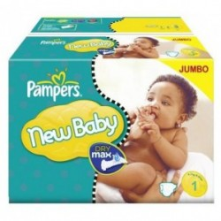 Pack jumeaux 864 Couches Pampers New Baby Premium Protection taille 1 sur 123 Couches