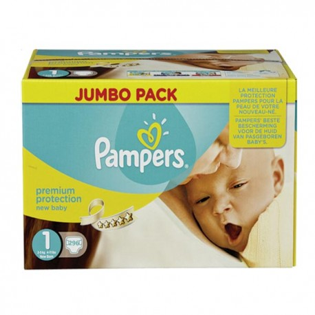 Pack jumeaux 960 Couches Pampers New Baby Premium Protection taille 1 sur 123 Couches