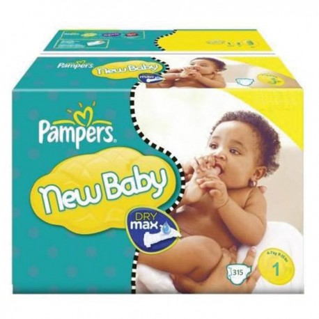 Pack jumeaux 1056 Couches Pampers New Baby Premium Protection taille 1 sur 123 Couches