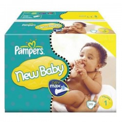 Pack jumeaux 1152 Couches Pampers New Baby Premium Protection taille 1