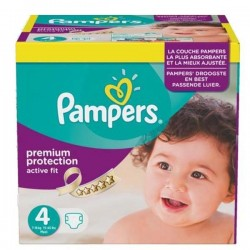 Pack jumeaux 1344 Couches Pampers Active Fit Premium Protection taille 4