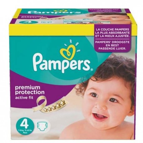 Pack jumeaux 1512 Couches Pampers Active Fit Premium Protection taille 4 sur 123 Couches