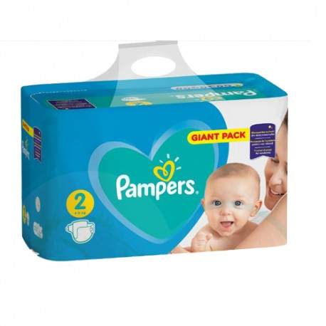 Pack 94 Couches Pampers Active Baby Dry taille 2 sur 123 Couches