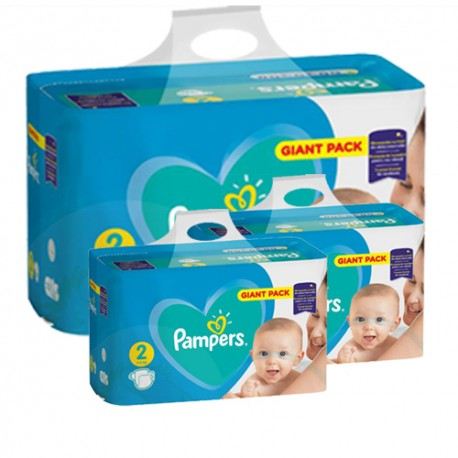 Maxi giga pack 376 Couches Pampers Active Baby Dry taille 2 sur 123 Couches