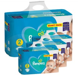 Pack jumeaux 564 Couches Pampers Active Baby Dry taille 2