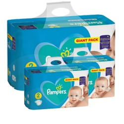 Pack jumeaux 658 Couches Pampers Active Baby Dry taille 2