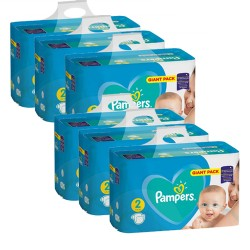 Pack jumeaux 752 Couches Pampers Active Baby Dry taille 2 sur 123 Couches