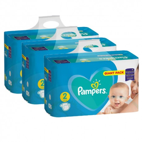Pack jumeaux 940 Couches Pampers Active Baby Dry taille 2 sur 123 Couches