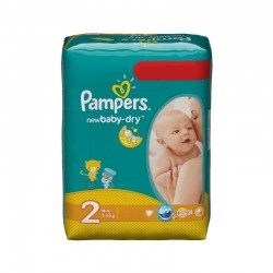 Mega pack 144 Couches Pampers New Baby Dry taille 2 sur 123 Couches
