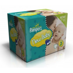 Pack jumeaux 1008 Couches Pampers New Baby Dry taille 2 sur 123 Couches