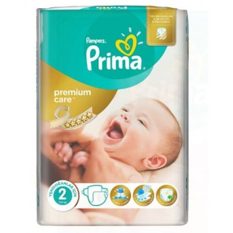 Pack 80 Couches Pampers New Baby Premium Care taille 2 sur 123 Couches